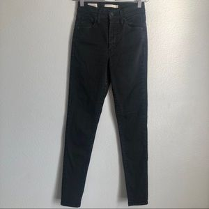 Levi's Black Mile High Super Skinny Jeans